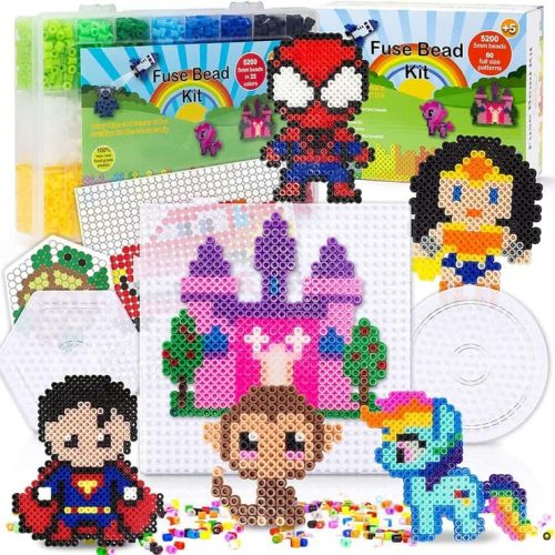52-hundred-beads-22-colors-3-pegbords-pyssla-beads